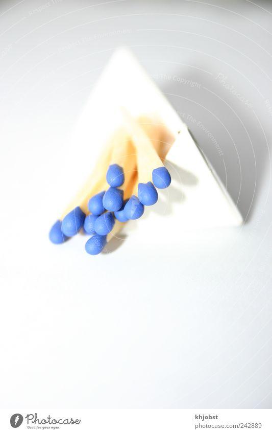 surreal blau Farbe Holz Tiefenschärfe Streichholz Überbelichtung