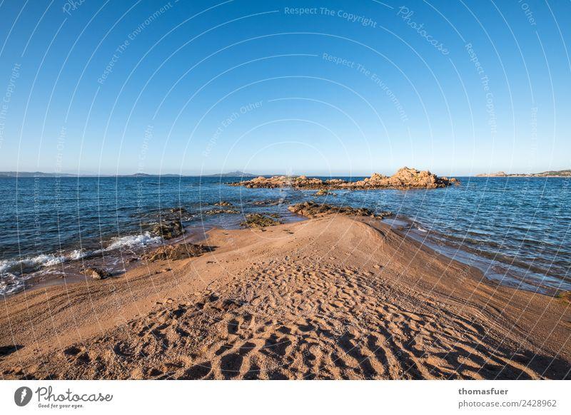 Landzunge Sardinien (Nord), Meer Ferien & Urlaub & Reisen Tourismus Ausflug Freiheit Sommer Sommerurlaub Sonne Strand Insel Wellen Landschaft Wolkenloser Himmel