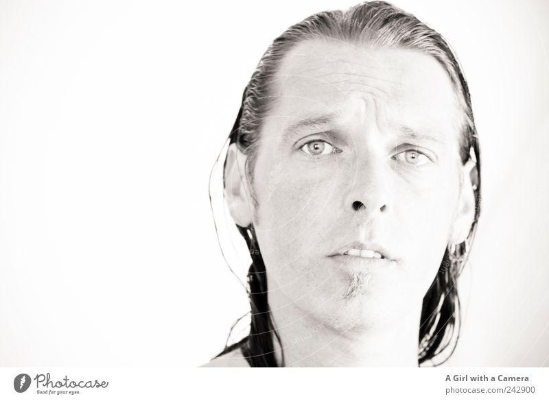 completely pissed off Mensch maskulin Junger Mann Jugendliche Erwachsene Kopf Haare & Frisuren 1 30-45 Jahre Blick trendy schön einzigartig natürlich weiß