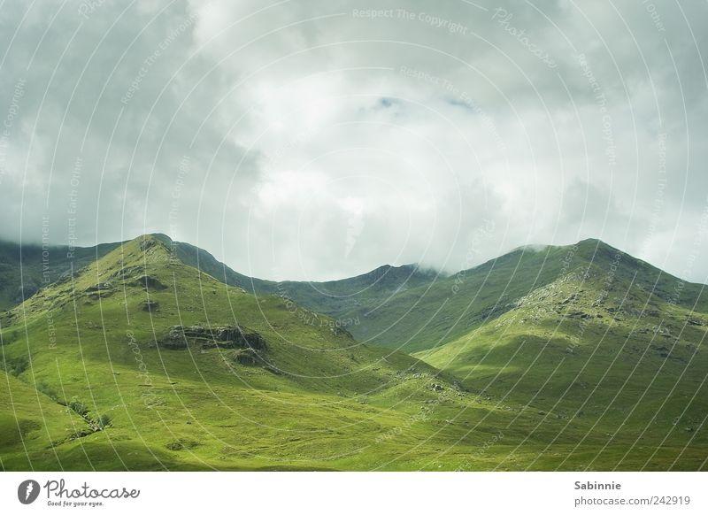 [Skye 02] Green Paradise Umwelt Natur Landschaft Erde Himmel Wolken Klima Schönes Wetter Wind Gras Hügel Felsen Berge u. Gebirge Highlands Gipfel Schottland