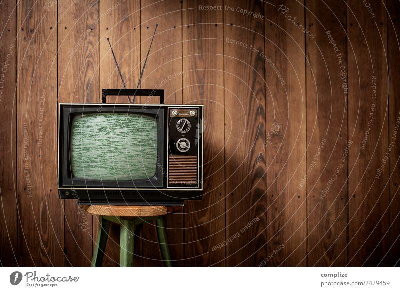 Televison Vintage Innenarchitektur Holz Party Häusliches Leben Design Wohnung retro Technik & Technologie Zukunft Industrie altehrwürdig Fernseher Fernsehen