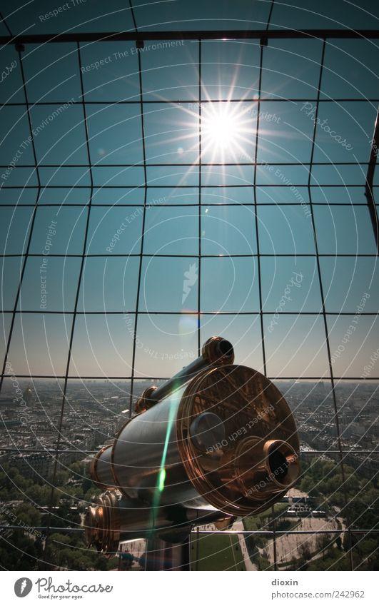 Blick zurück auf Paris Stadt Ferien & Urlaub & Reisen Haus Europa Tourismus Turm beobachten Frankreich Wahrzeichen Stadtzentrum Hauptstadt Gitter Sightseeing
