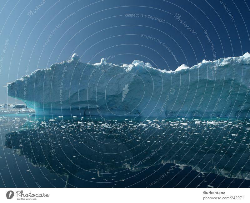 Blaupause Natur Wasser schön Himmel Meer blau Ferien & Urlaub & Reisen ruhig Eis Zufriedenheit Umwelt Coolness Tourismus Klima Gelassenheit Urelemente