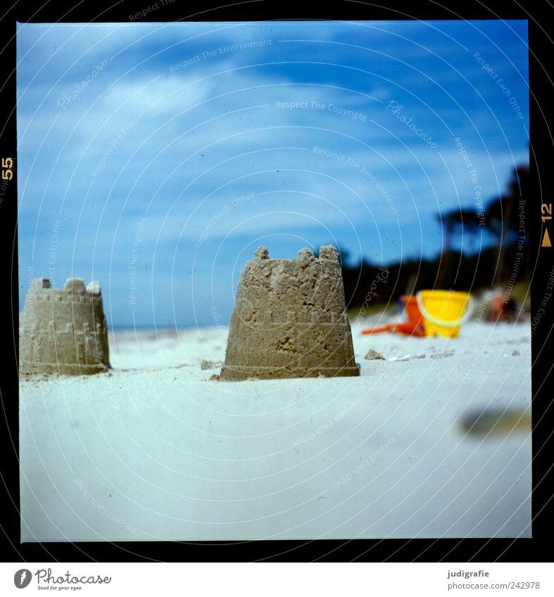 Weststrand Natur Himmel Meer Strand Ferien & Urlaub & Reisen Spielen Sand Landschaft Stimmung Umwelt Freizeit & Hobby Spielzeug niedlich Ostsee Schönes Wetter bauen