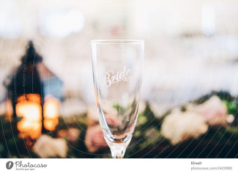 Braut Champagnerglas Lifestyle kaufen Reichtum elegant Stil Design Freude Gefühle Stimmung Hochzeit Sektglas Detailaufnahme Dekoration & Verzierung