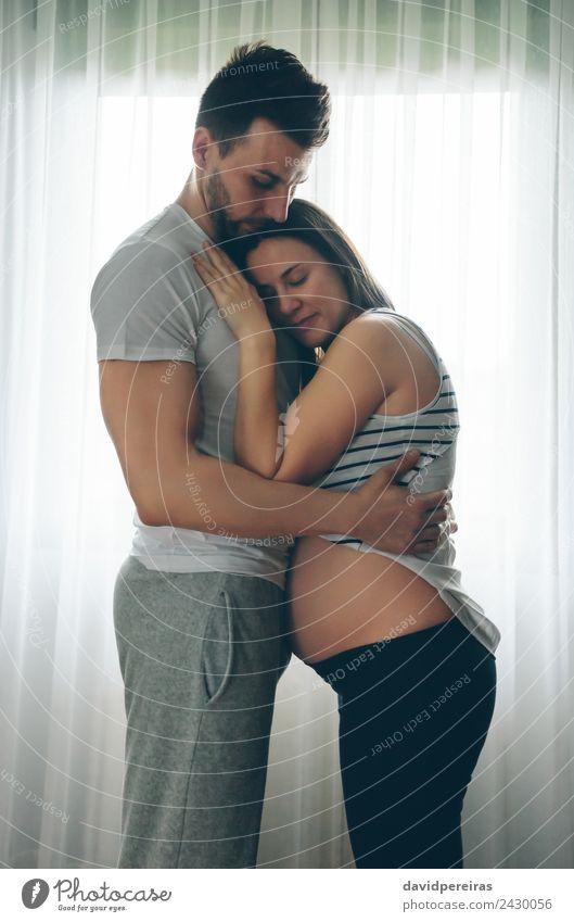 Frau Mensch Mann schön Erwachsene Lifestyle Liebe Familie & Verwandtschaft Paar authentisch Baby warten Mutter Partnerschaft Eltern Vater