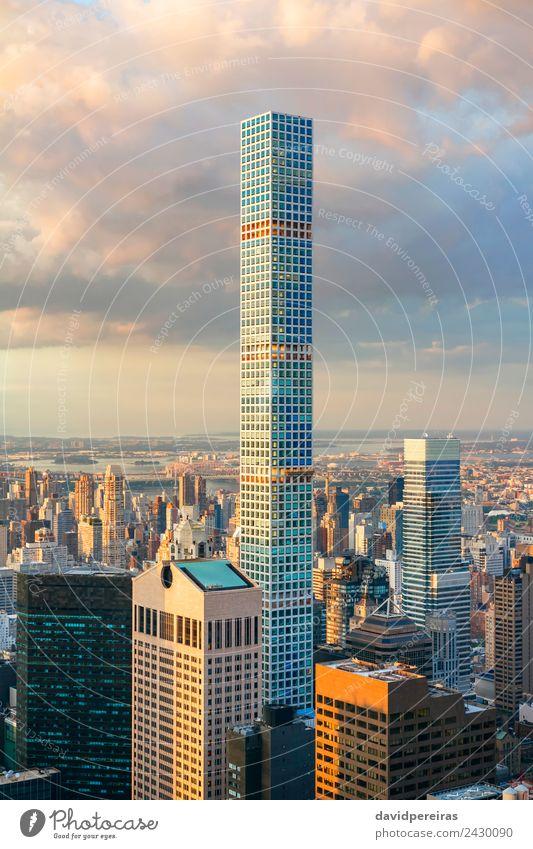 432 Park Avenue Bau in New York City Ferien & Urlaub & Reisen Tourismus Sightseeing Sommer Landschaft Erde Himmel Stadtzentrum Skyline Hochhaus Gebäude
