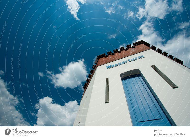 zwischen wasser und himmel. Wasserkraftwerk Himmel Wolken Schönes Wetter Brandenburg Skyline Turm Tor Bauwerk Gebäude Architektur Terrasse Tür Sehenswürdigkeit