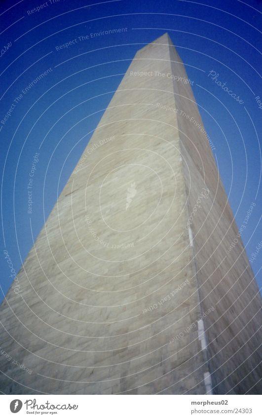Washington Monument II Architektur groß Macht Turm Amerika Denkmal aufwärts Wahrzeichen Säule vertikal Bekanntheit Sehenswürdigkeit monumental Attraktion