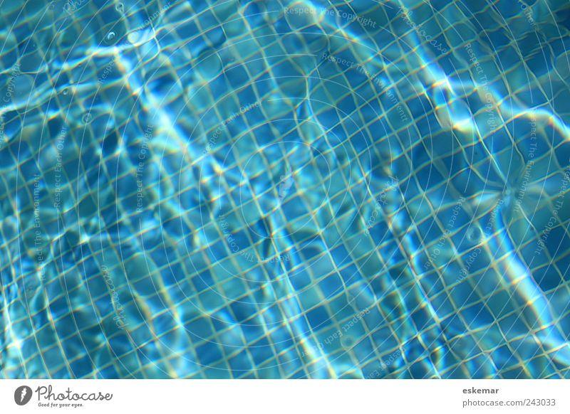 Pool blau Ferien & Urlaub & Reisen Sommer Freude Erholung Leben Hintergrundbild Schwimmen & Baden nass frisch ästhetisch authentisch Schwimmbad Sauberkeit