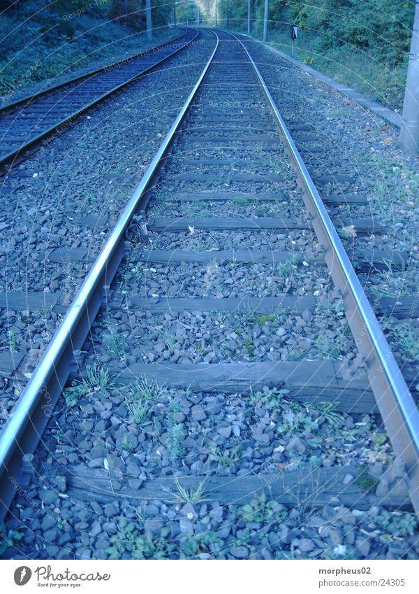 quo vadis Wege & Pfade Verkehr Eisenbahn Gleise