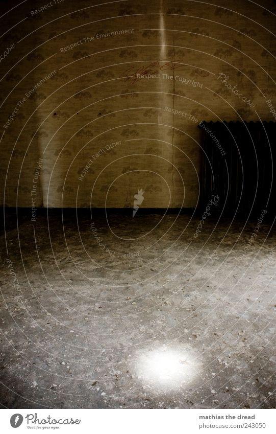 ERSCHEINUNG IV alt ruhig dunkel Wand Gebäude Mauer hell Raum dreckig ästhetisch außergewöhnlich leuchten trist Bauwerk Fabrik Tapete