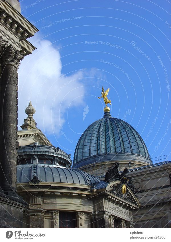 Zitronenpresse Dresden Architektur Kunstakademie blau Himmel Oktagon Fama