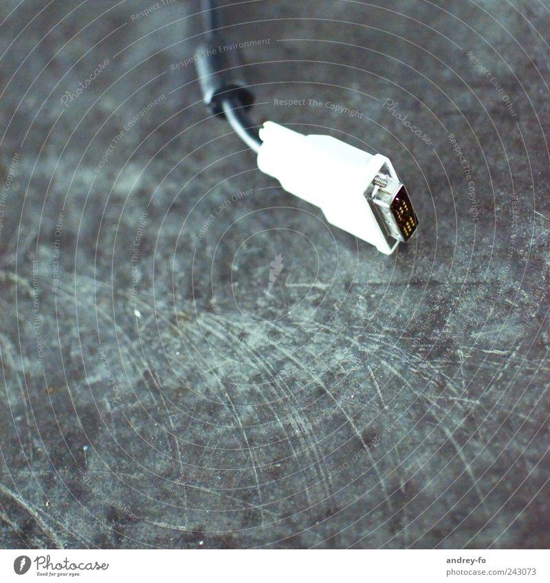 Kabel-Stecker-Buchse Medien Fernsehen Filmindustrie Video Beton Stahl Kunststoff grau weiß Energie Kontakt Monitorkabel Quadrat Technik & Technologie