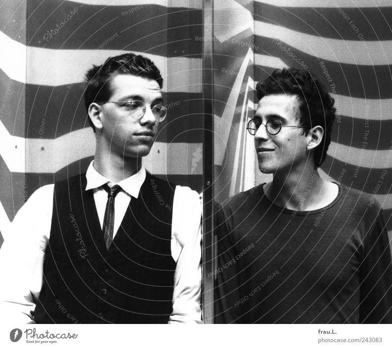 1984 Mensch Jugendliche schön Erwachsene Leben Gefühle Glück Mode Kunst Freundschaft Zusammensein maskulin Coolness einzigartig dünn
