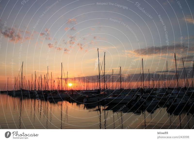 Jachthafen Himmel Romantik Hafen Ostsee Segelboot Segelschiff Morgendämmerung Hafenstadt Meer Kühlungsborn
