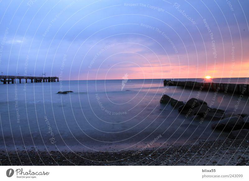 Lichtspiel Ostsee Ferien & Urlaub & Reisen Freiheit Sommer Sommerurlaub Sonne Strand Meer Horizont Sonnenaufgang Sonnenuntergang Seeufer Kühlungsborn Romantik