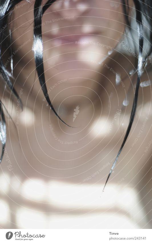 wet (3) Junge Frau Jugendliche Erwachsene Haut Haare & Frisuren Mund 30-45 Jahre schwarzhaarig brünett langhaarig nass Haarspitze Unter der Dusche (Aktivität)