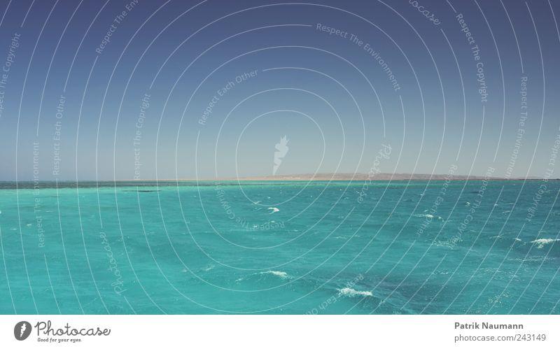 Fernweh Natur Wasser Himmel Meer blau Strand Ferien & Urlaub & Reisen ruhig Ferne Erholung Freiheit Wellen Horizont Lifestyle frisch Insel