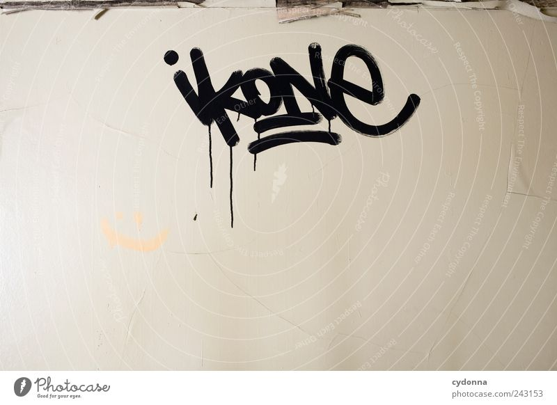 Ikonographie ruhig Wand Leben Graffiti Stil Mauer Lifestyle Zeit Freiheit Design Häusliches Leben elegant ästhetisch Schriftzeichen Kreativität Idee