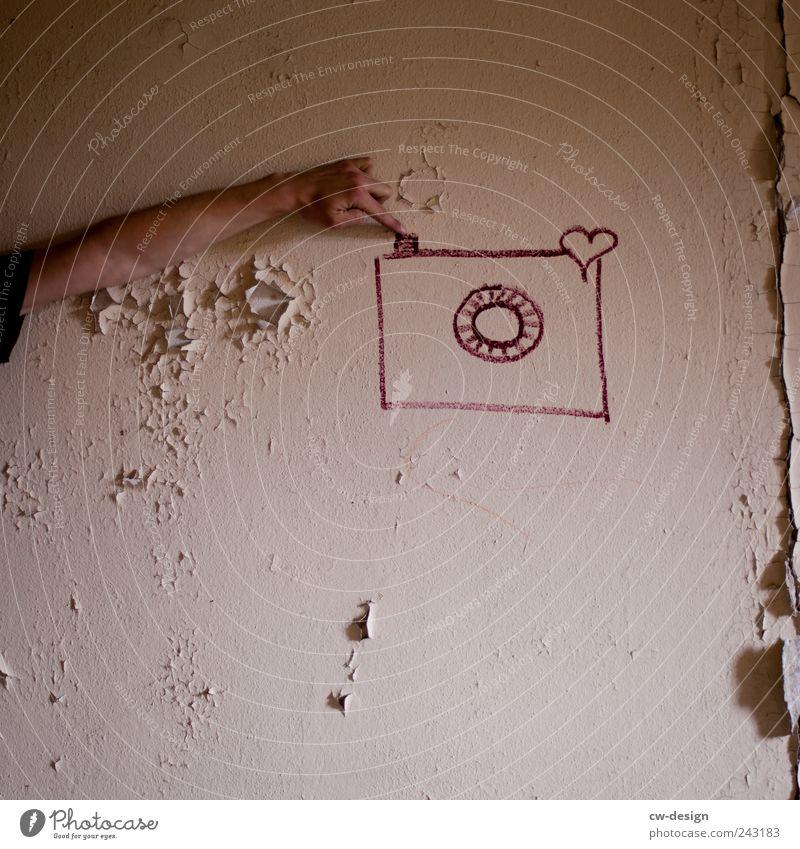 Happy Birthday Photocase Mensch alt Hand Freude Wand Graffiti Mauer Kunst Freizeit & Hobby Herz Arme Finger Fotokamera Zeichen Lebensfreude Künstler