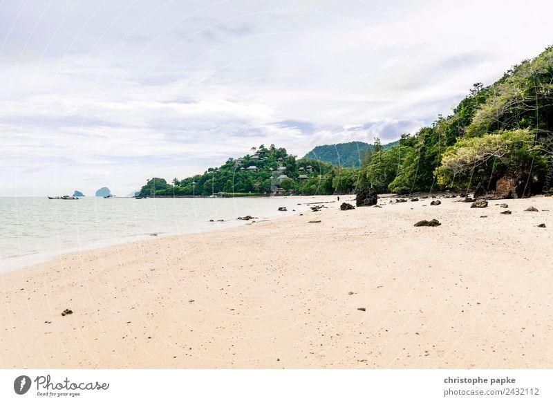 Netter Strand Natur Ferien & Urlaub & Reisen Sommer Sonne Landschaft Baum Meer Einsamkeit Wolken Ferne Umwelt Küste Insel Sommerurlaub Urwald