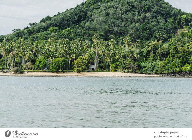 Place to be Ferien & Urlaub & Reisen Tourismus Ferne Sommer Sommerurlaub Strand Meer Thailand Menschenleer Einsamkeit exotisch Urwald Hütte Palme