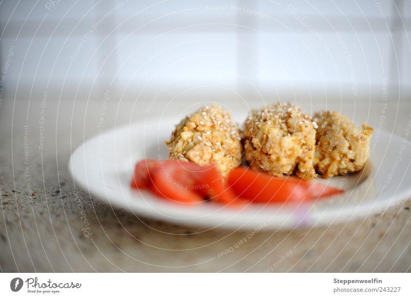 Risotto rot gelb Gesundheit braun Ernährung Lebensmittel Gesunde Ernährung Sauberkeit genießen Teller Bioprodukte Abendessen Mittagessen Tomate