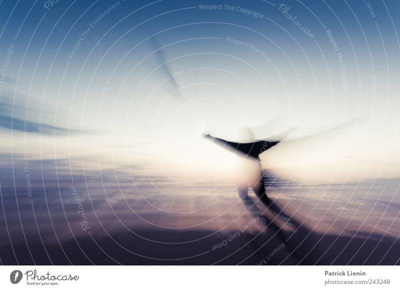 Hypnotic energy Mensch Himmel schön Strand Meer Einsamkeit Freiheit Umwelt Bewegung Küste Luft Stimmung Zufriedenheit Arme Insel ästhetisch