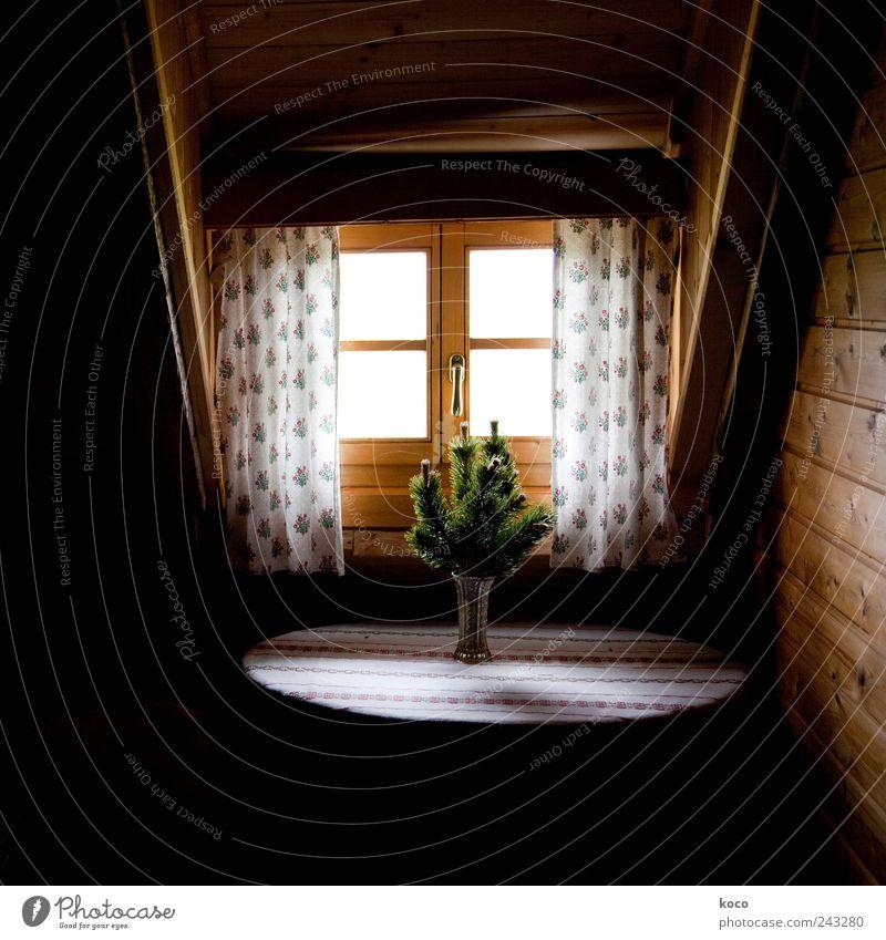 Almfoto II weiß grün Sommer ruhig Haus Erholung Wand Fenster Berge u. Gebirge Holz Mauer Zufriedenheit braun Raum Wohnung Glas