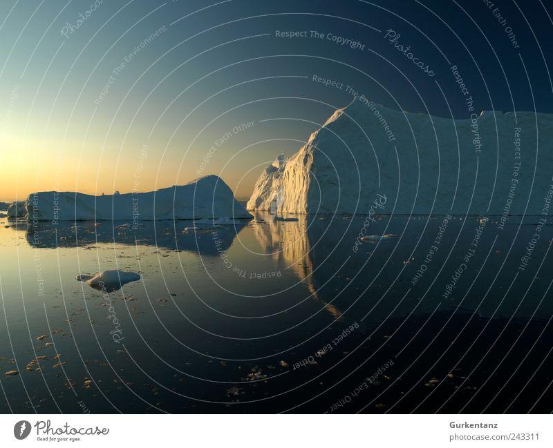 Atlantik on the Rocks Umwelt Natur Urelemente Wasser Himmel Wolkenloser Himmel Horizont Sonnenaufgang Sonnenuntergang Klima Klimawandel Eis Frost Küste Meer