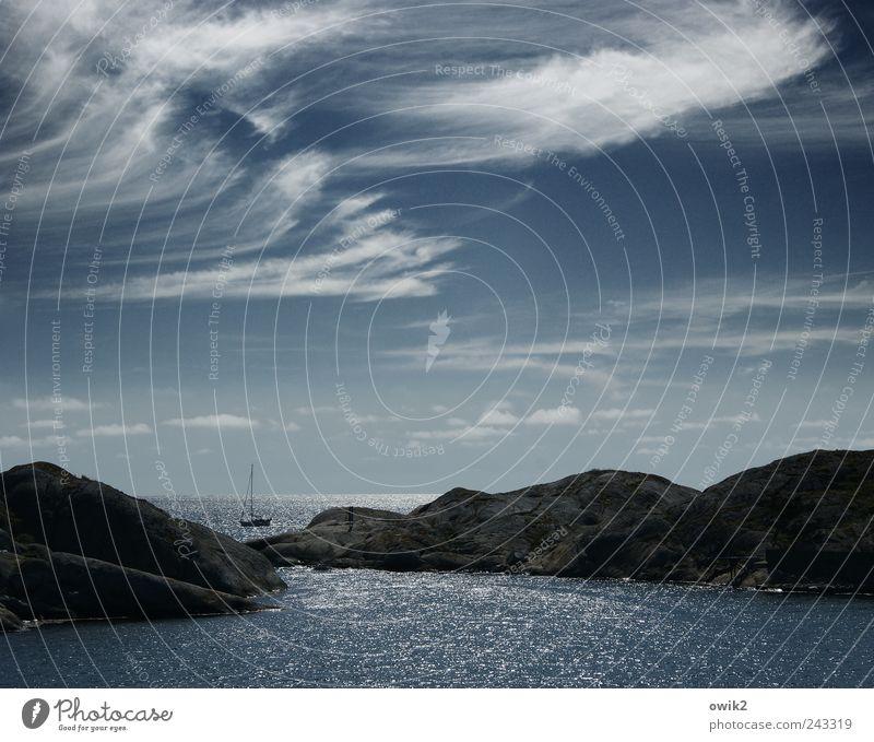Schmachtfetzen Himmel Natur Wasser blau Meer Wolken ruhig Erholung Umwelt Landschaft Glück Bewegung Küste Luft Wellen Wind