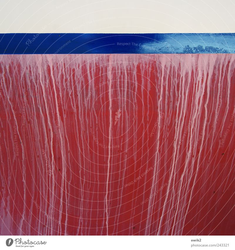 Kunst am Boot weiß blau rot Farbe Zufriedenheit Kunst rosa Design elegant ästhetisch nah weich Wandel & Veränderung einfach Streifen natürlich