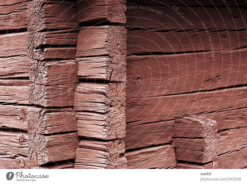 Stapelware alt weiß schwarz Wand Holz Mauer Gebäude Architektur rosa Fassade Technik & Technologie einfach fest Dorf Hütte