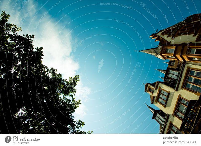 Marburg Himmel Sommer Haus Fenster Gefühle Architektur Gebäude Dach Burg oder Schloss Stadtzentrum Sehenswürdigkeit Altstadt Hessen Traumhaus