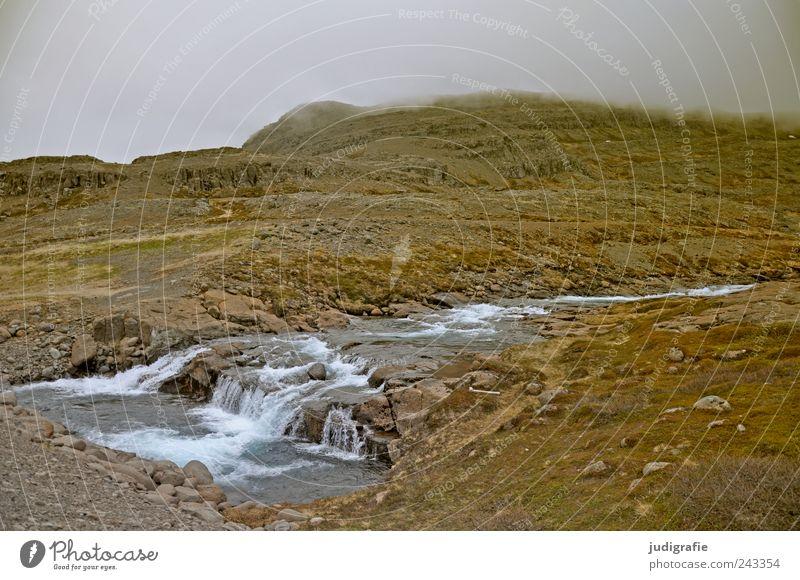 Island Natur Wasser Himmel ruhig Wolken Einsamkeit Berge u. Gebirge Landschaft Stimmung Umwelt Felsen Erde Fluss wild natürlich Hügel