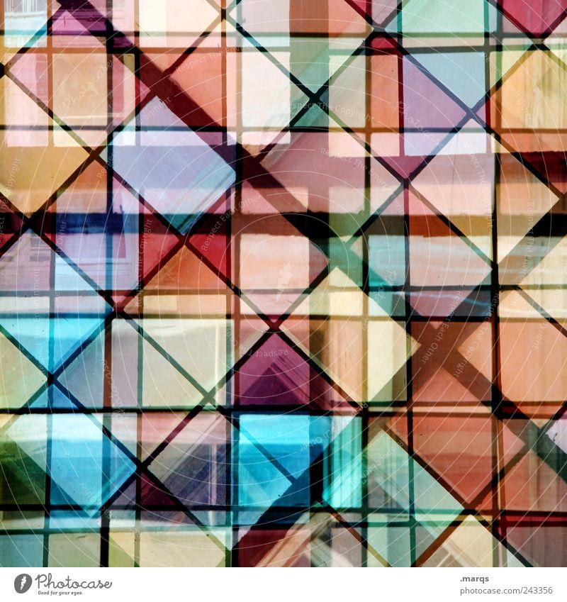 Doppelschicht Stil Design Dekoration & Verzierung Glas Linie außergewöhnlich eckig trendy einzigartig viele mehrfarbig chaotisch Farbe komplex Doppelbelichtung