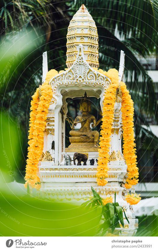 Statue von Brahma - dem vierköpfigen Schöpfergott Ferien & Urlaub & Reisen Tourismus Ferne Sommer Sommerurlaub Thailand Glaube Religion & Glaube Buddha Statue