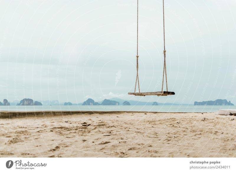 Schaukel am Strand Zufriedenheit Freizeit & Hobby Ferien & Urlaub & Reisen Ferne Freiheit Sommer Sommerurlaub Meer Thailand hängen Freude schaukeln Asien