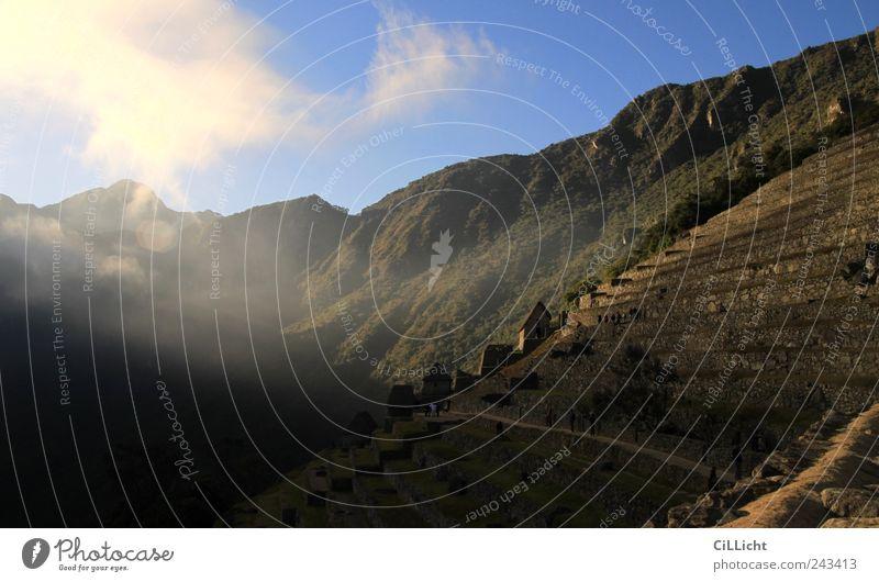 Sonnenaufgang am Machu Picchu Ferien & Urlaub & Reisen Tourismus Ferne Sightseeing Berge u. Gebirge Urwald Anden Machu Pichu Gipfel alt authentisch