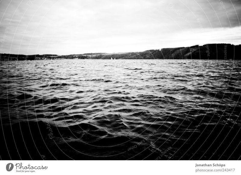 Wer findet den Fisch im Bild? Himmel Natur Wasser weiß schwarz kalt Gefühle Landschaft Küste Stimmung Luft See Wellen Angst Wind nass