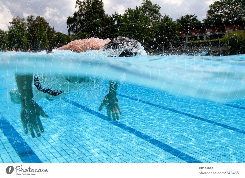durchgezogen Lifestyle Freude Erholung Schwimmen & Baden Freizeit & Hobby Ferien & Urlaub & Reisen Sommer Wellen Sport Wassersport Sportler tauchen Schwimmbad