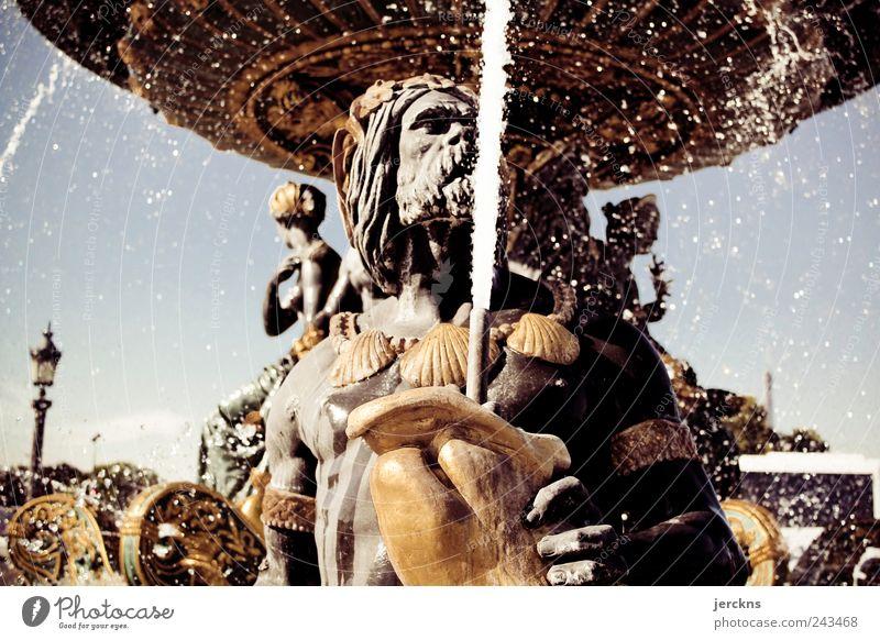 Pariser Springbrunnen Place de la Concorde Platz Sehenswürdigkeit Denkmal Schwimmen & Baden Farbfoto Gedeckte Farben Außenaufnahme Nahaufnahme Menschenleer Tag