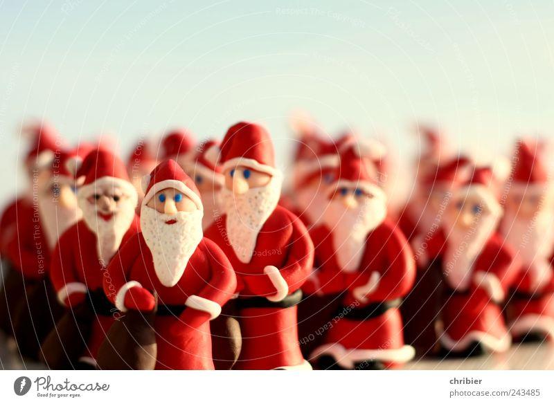 Jan und Hein und Klaas und Pit... Mann Weihnachten & Advent weiß rot Erwachsene lustig Menschengruppe Zusammensein Arbeit & Erwerbstätigkeit gehen viele Wunsch Team Kitsch Bart Weihnachtsmann