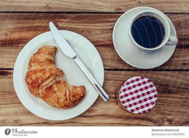 Frühstück am Sonntag Essen Lifestyle natürlich Stil Lebensmittel braun Häusliches Leben Wohnung Zufriedenheit hell Ernährung genießen Tisch süß Kaffee Getränk