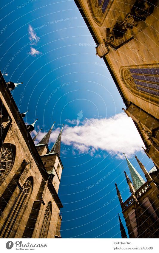 Dom St. Marien und der St. Severi alt Sommer Wolken Architektur Ausflug Tourismus Kirche Denkmal Bauwerk historisch Wahrzeichen Stadtzentrum Schönes Wetter