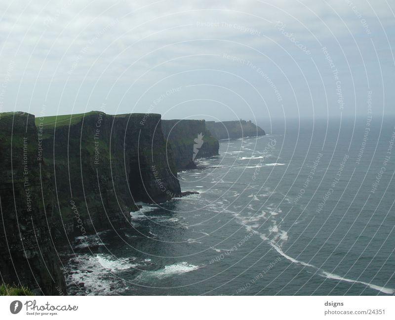 Cliffs Klippe Strand Meer Europa Republik Irland Felsen Aussicht