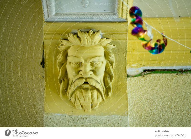 Party Innenarchitektur Dekoration & Verzierung Gesicht alt Gott zeus Farbfoto Gedeckte Farben Innenaufnahme Menschenleer Tag Starke Tiefenschärfe Blick