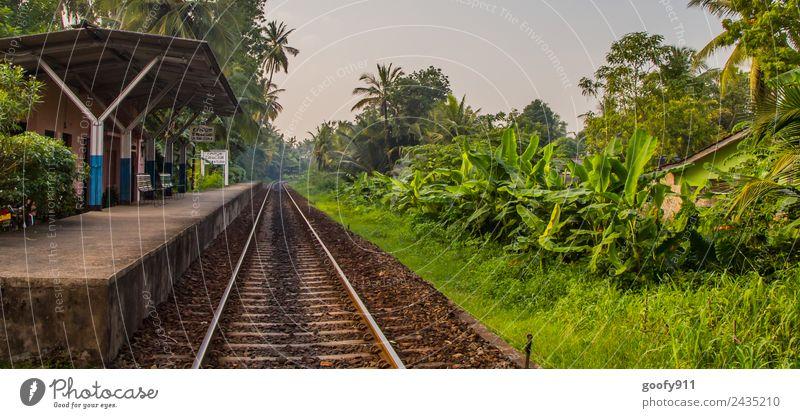 Bahnhof von Unawatuna Sri Lanka Natur Ferien & Urlaub & Reisen Landschaft Sonne Ferne Umwelt Tourismus Freiheit Ausflug frei Abenteuer Güterverkehr & Logistik