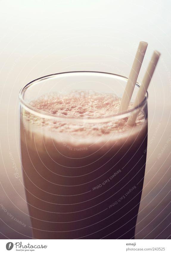 Frappé rosa Glas Getränk lecker Dessert Trinkhalm Milcherzeugnisse Ernährung Milchshake